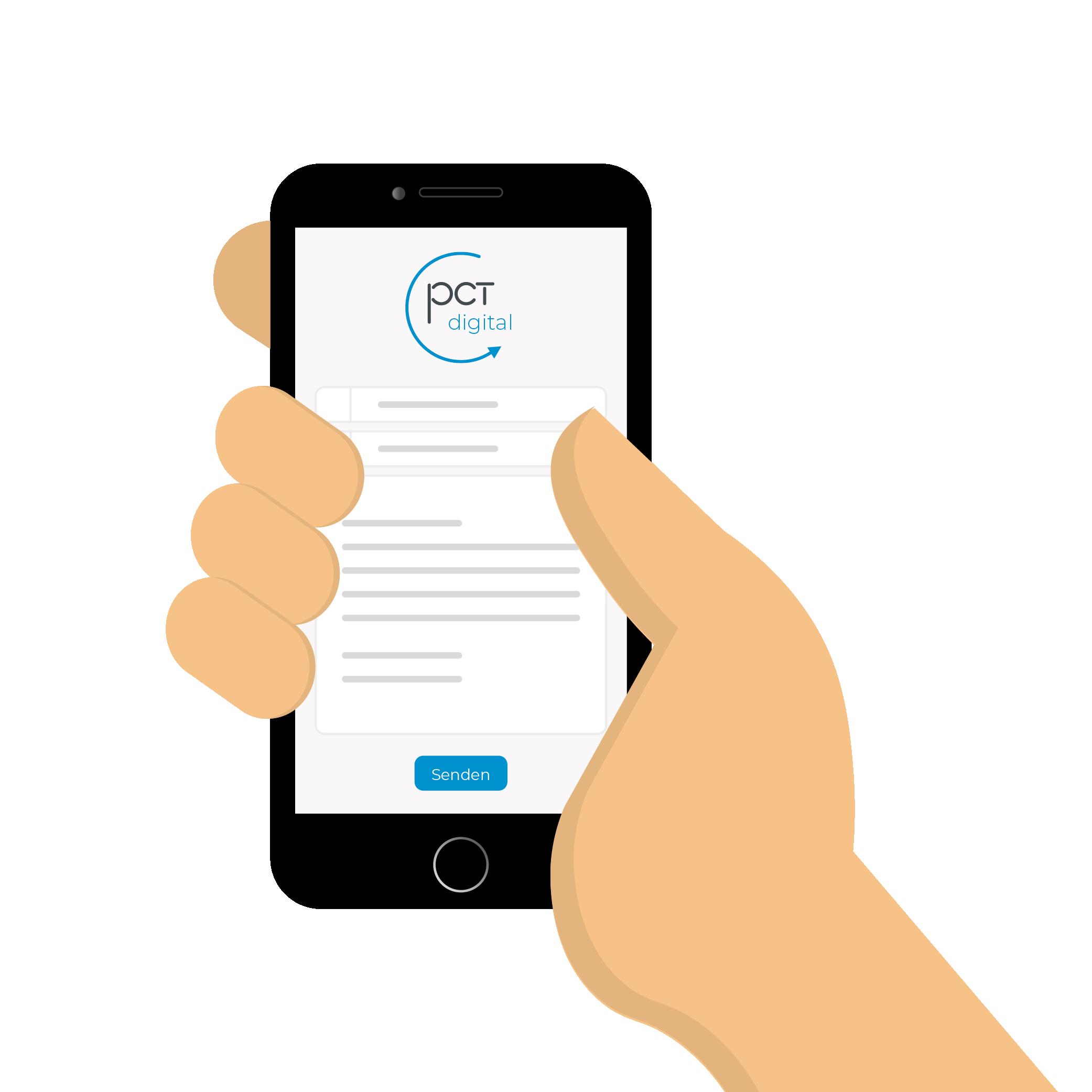 pct digital GmbH Kontaktformular